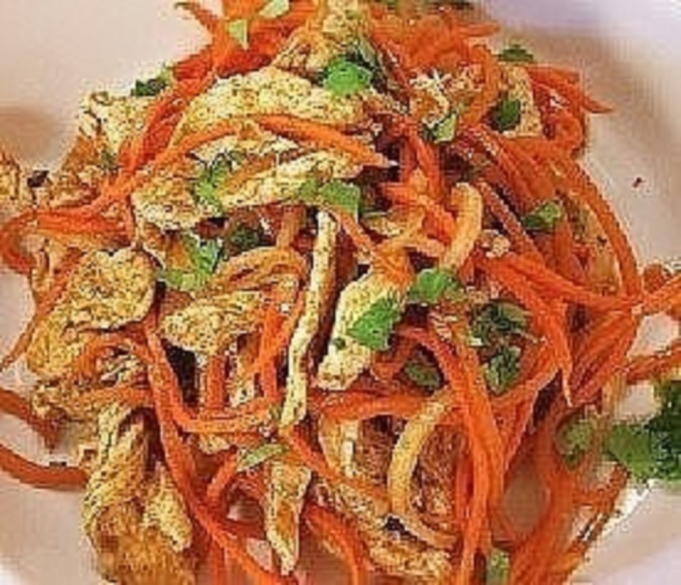 Салат корейский с курицей рецепт с