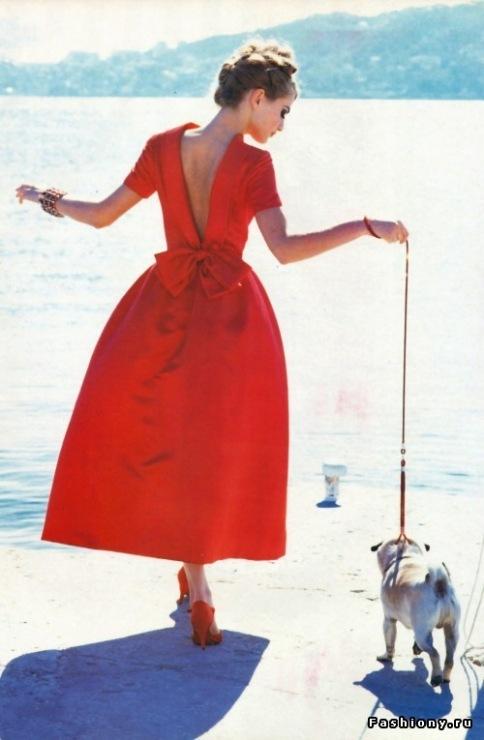 фото дамочка в платье