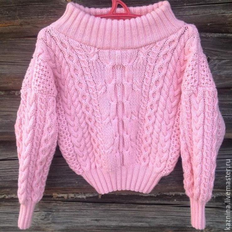 Связать свитер рубан подробно