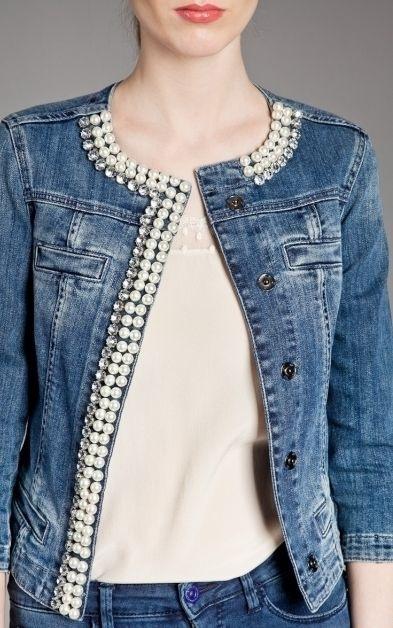 Идеи как переделать джинсовую куртку своими руками