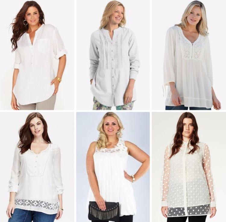 Белая Блузка Для Полных