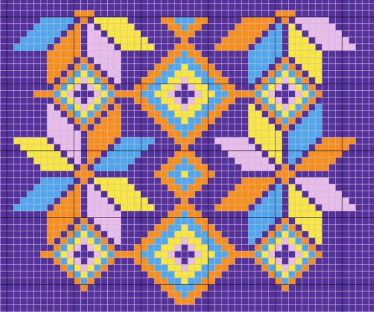 Колумбийское вязание схемы