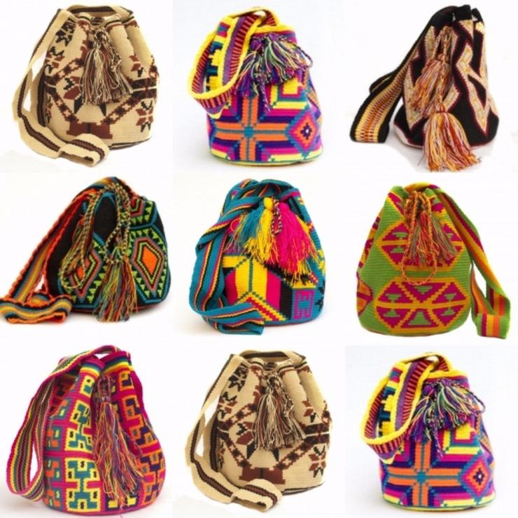 Вязание мексиканских сумок 50