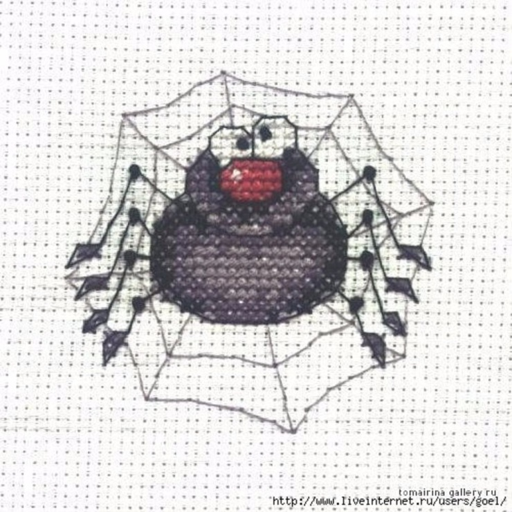 Схема вышивки крестиком человек паук 4
