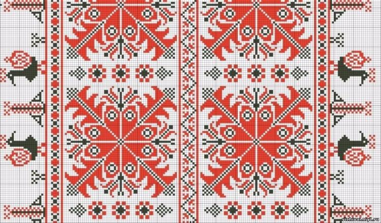 Русская народный орнамент вышивка крестом 54
