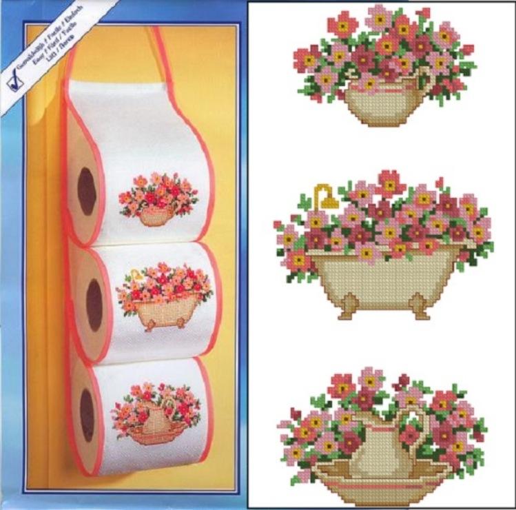 Схемы для вышивки цветы в горшках 59