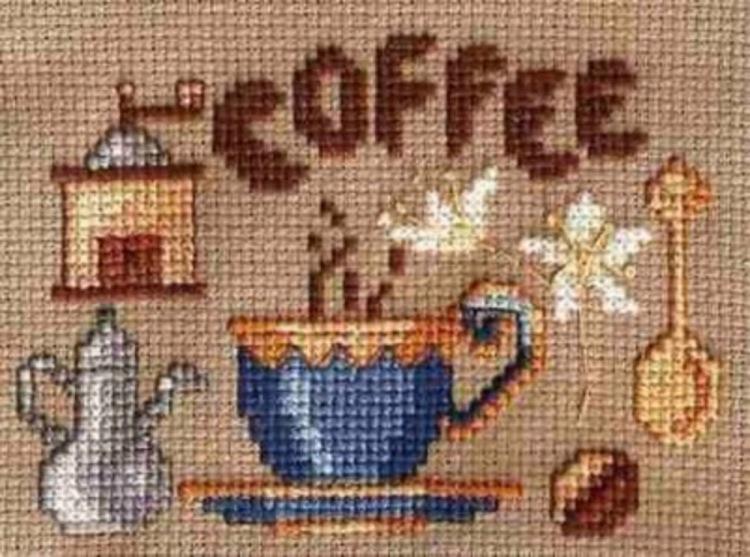 Вышивка крестом еще одна кофе