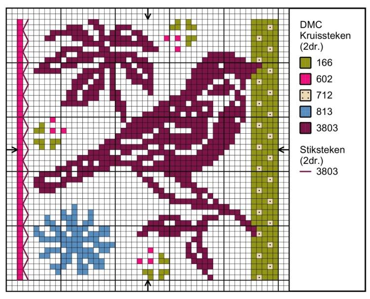 Орнаменты птиц для вязания