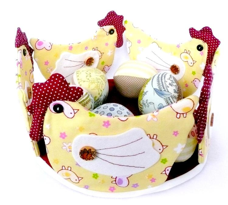 Корзиночки текстильные для яиц на пасху