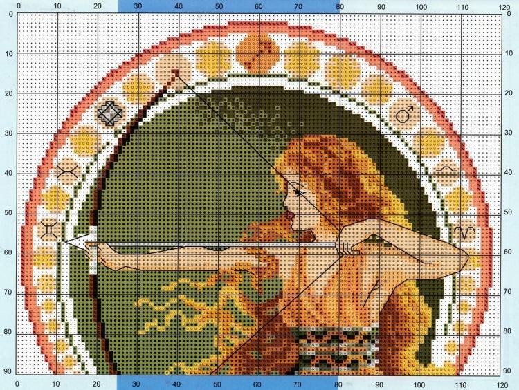 Вышивка крестом схемы знаки зодиака: скачать бесплатно, лев