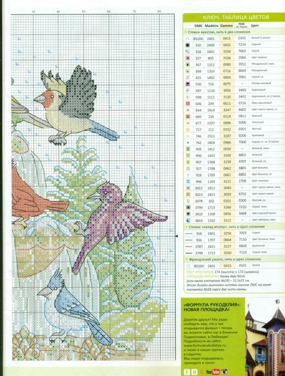 Схема для вышивания: Фонтан в саду. Boomkin s ArtSketchbook 35