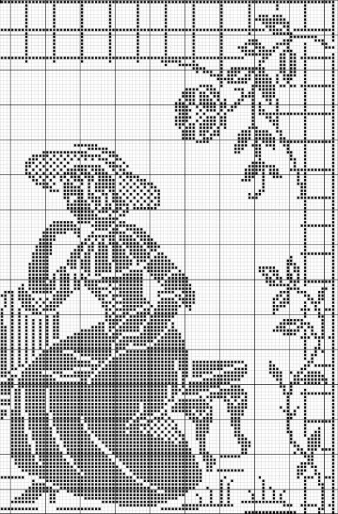 Схемы вышивок с дамами и кавалерами