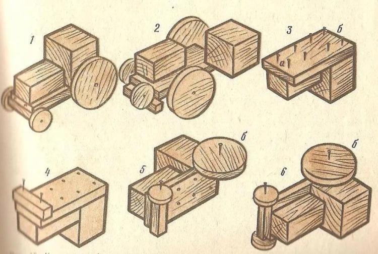 Несложные поделки из дерева с чертежами